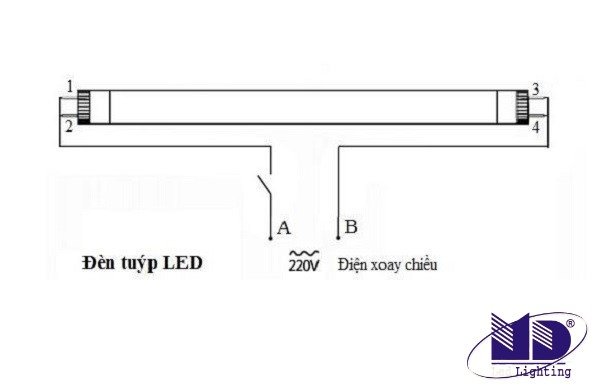 Hướng dẫn cách đấu đèn tuýp LED đơn giản nhanh chóng tại nhà