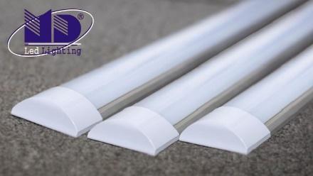 Đèn tuýp LED bán nguyệt được cấu tạo với 6 phần chính