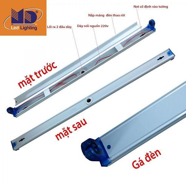 Các bộ phận chính của máng đèn LED