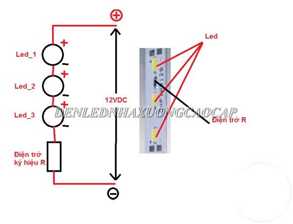 Cách nối đèn LED nối tiếp được thực hiện như thế nào?