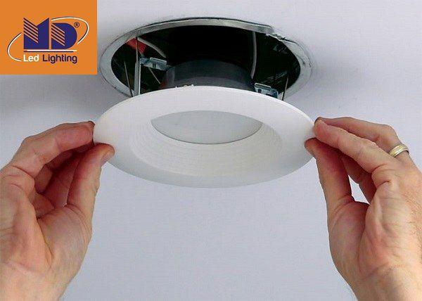 Khắc phục khi chọn sai kích thước đèn âm trần thế nào?